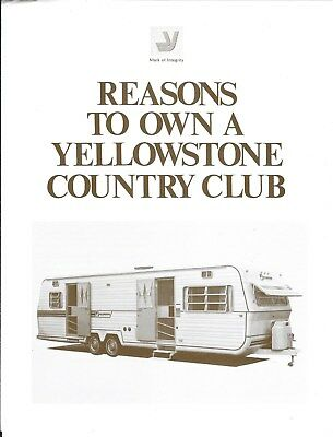 Travel Trailer Brochure - Yellowstone - Country Club - c1980   (MH48)