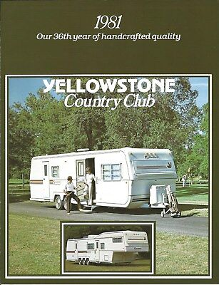 Travel Trailer Brochure - Yellowstone - Country Club - 1981   (MH49)