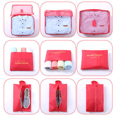 7pcs Packing Pouch Suitcase Clothes Storage Bags Travel Luggage Organizer Colors