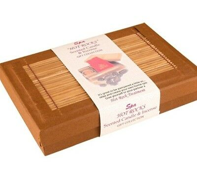 Spa Hot Rocks Scented Candle & Incense Boxed Gift Collection NEW