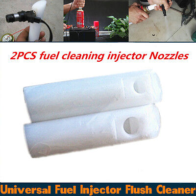 Portable 2pcs Diesel Injection Cleaner Adapter Fuel Injector Nozzle Clean Tool