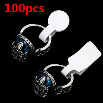 100pcs / Bag White Blank Price Tags Necklace Ring Jewelry Labels Paper Stickers