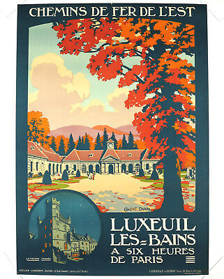 LUXEUIL LES-BAINS, Original Travel Poster, Constant Duval, ca.1920