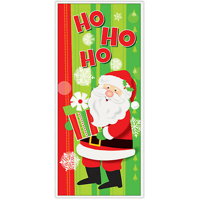 1.5m Christmas Party Cheerful HO HO HO Santa Door Poster Banner Decoration