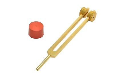NEW GOLD Otto Tuner Tuning fork Weighted 32 Hz+Activator Bones Healing & therapy