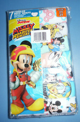 Mickey Mouse Roadster Racers Disney 7 Cotton Briefs Toddler Boys Size 2T 3T NIP