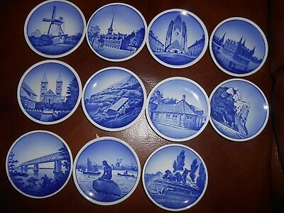 Danish Pottery  X  11 Pin Dishes,  Each Different