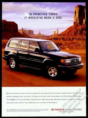 1996 Toyota Land Cruiser Monument Valley photo vintage print ad