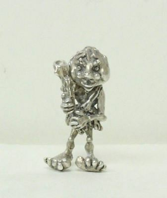 "800 Silver 2"" Tall Detailed CaveMan Figurine With Movable Head/46.5 grams"