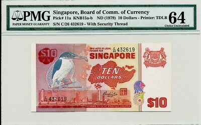 Board Of Comm.  Of Currency Singapore  10 nd(1979)  PMG  64