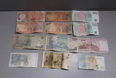 Assorted Lot of Foreign Currency-Bills-Money-Euro-Rupees and More