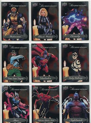Marvel Vibranium Complete In Memoriam Chase Card Set IM1-20