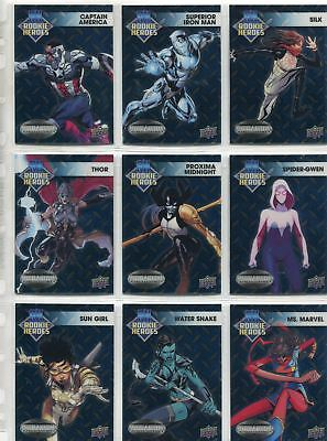 Marvel Vibranium Complete Rookie Heroes Chase Card Set RH1-10