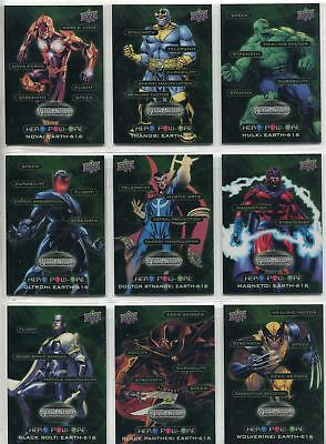 Marvel Vibranium Complete Hero Pow-Ore Chase Card Set HP1-20