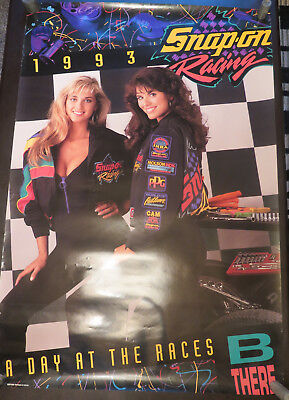 1993 Snap On Tools Huge pin up poster A Day at the Races Snap on Racing
