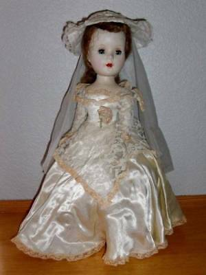 "American Character ~ Vintage 1950's Sweet Sue HP 15"" Walker Doll Original Gown"