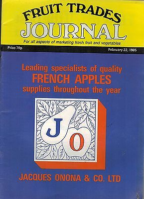 1985  FEB 22 57352 Fruit Trades Journal Magazine  CAPE CELEBRATES 500MTH CARTON