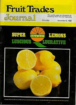1982 5 NOV 57345 Fruit Trades Journal Magazine LEEDS MARKET SPECIAL