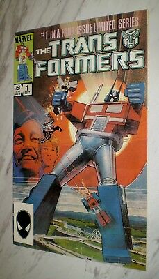 The Transformers #1 NM+ 9.6 White Unrestored 1984 1st comic appearance & origin