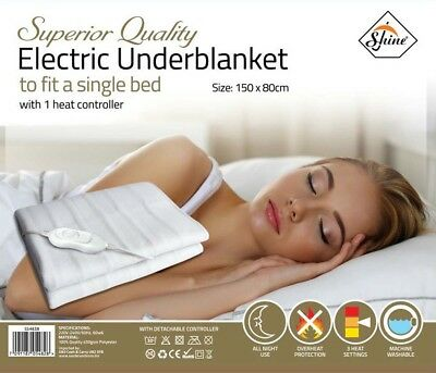 Polyester Electric Underblanket to fit a Single/Double Bed With 1Heat Controller