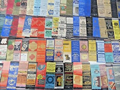 Lot of more than 1000 Vintage Matchbook Covers from the US Liquor, Motels, Adv,