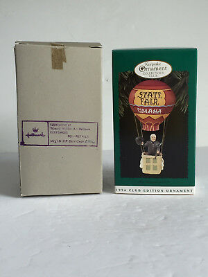1996 WIZARD with HOT AIR BALLOON The Wizard of OZ Hallmark Ornament Club Edition