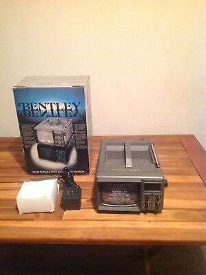 "Bentley Portable 5"" Black & White Tv - New In Box, With Bonus Power Adapter!"