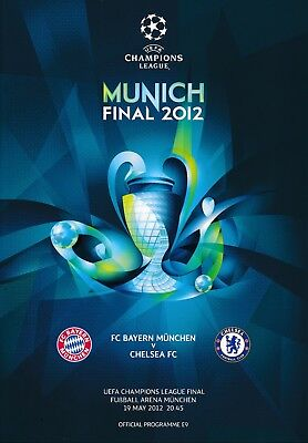 UEFA CHAMPIONS LEAGUE FINAL 2012 Bayern Munich v Chelsea - Original programme