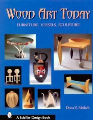 Wood Art Sculpture Book Furniture Abstract Vase Table