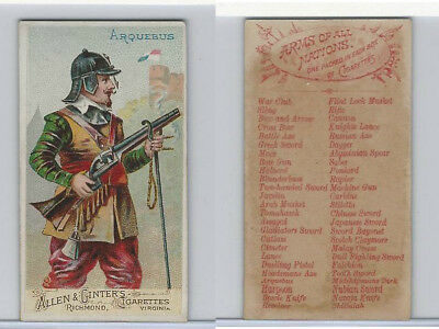 N3 Allen & Ginter, Arms of all Nations, 1887, Arquebus