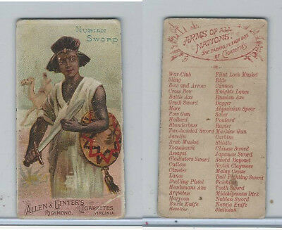 N3 Allen & Ginter, Arms of all Nations, 1887, Nubian Sword
