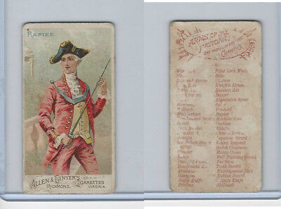 N3 Allen & Ginter, Arms of all Nations, 1887, Rapier