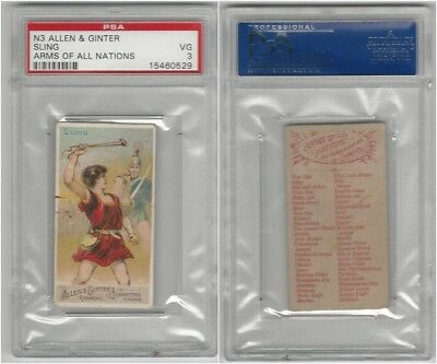 N3 Allen & Ginter, Arms of all Nations, 1887, Sling, PSA 3 VG