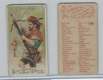 N3 Allen & Ginter, Arms of all Nations, 1887, Bow Gun