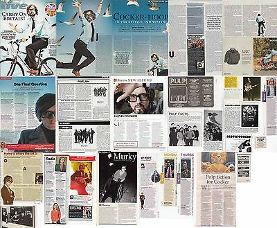 PULP- JARVIS COCKER : CUTTINGS COLLECTION -interviews adverts-