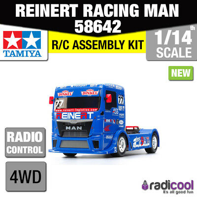 New! 58642 TAMIYA REINART RACING TRUCK MAN TGS TT-01E 1/14th R/C RADIO CONTROL