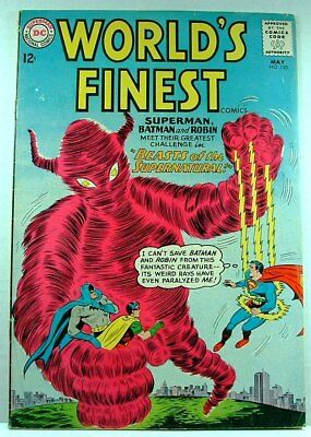 """DC Comics: WORLD'S FINEST #133 VG/F (1963) """"Beasts of the Supernatural!"""""""