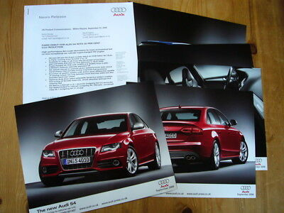Audi S4 press releases and photos, 2008, rare, excellent condition