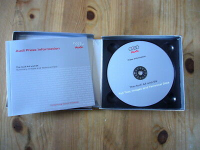 Audi A4 & S4 press kit with CD and booklet in box, excellent, 2008