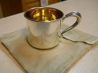 Vintage Web Sterling Baby Cup Gold Washed 40.2 grams EXC.