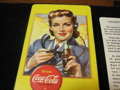 WWII Coca Cola Aircraft Spotter Cards Full Deck 1940's Military ESTATE FIND