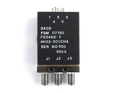 Sage Labs FS5466-1 RF Switch SMA(F) Connector