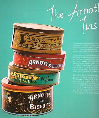 ARNOTTS BISCUITS 150 Years History BOOK Scarce Photos Tins Posters Advertising