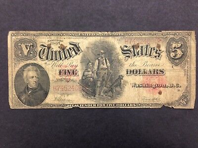USA 5 Dollars  1907 -- Woodchopper -- US note