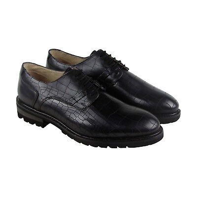 GBX Brenner Mens Black Leather Casual Dress Lace Up Oxfords Shoes