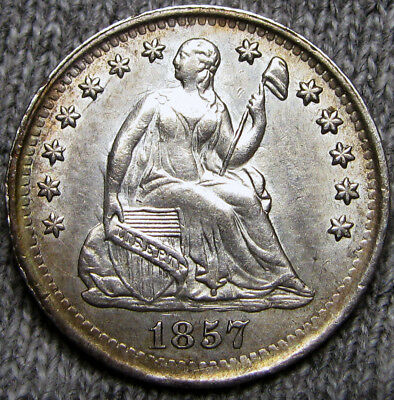 1857 Seated Liberty Half Dime --- STUNNING --- #A706