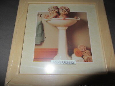 Anne Geddes Babies Ii Twins Framed Print New In Package 7 1/2  X 7 1/2 L@@k