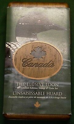 2004 Canada $1 Elusive Loon Limited Edition Stamp & Coin Set