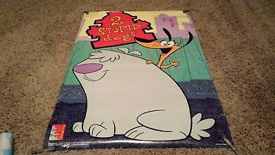 2 STUPID DOGS Cartoon Poster HANNA-BARBERA Studios Vintage - NOS