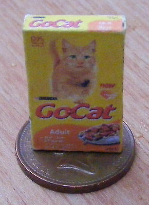 1:12 Scale Empty Cats Food Packet Dolls House Miniature GoCat Accessory